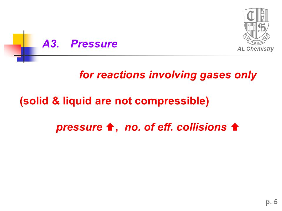 for reactions involving gases only