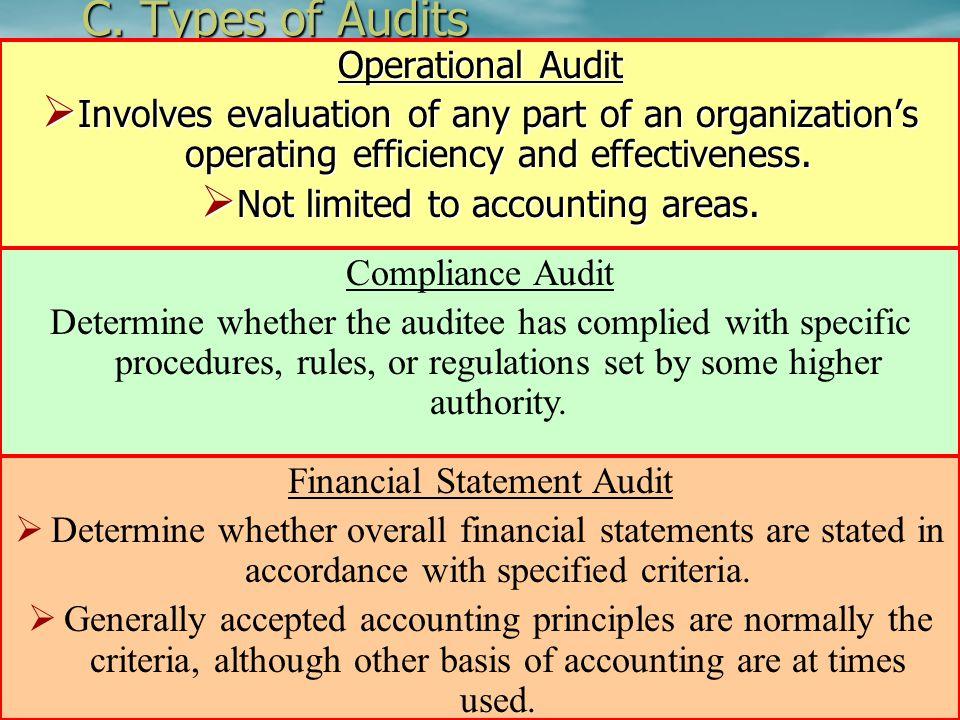 C. Types of Audits Operational Audit