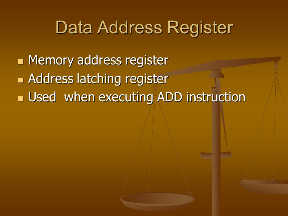Data Address Register Memory address register