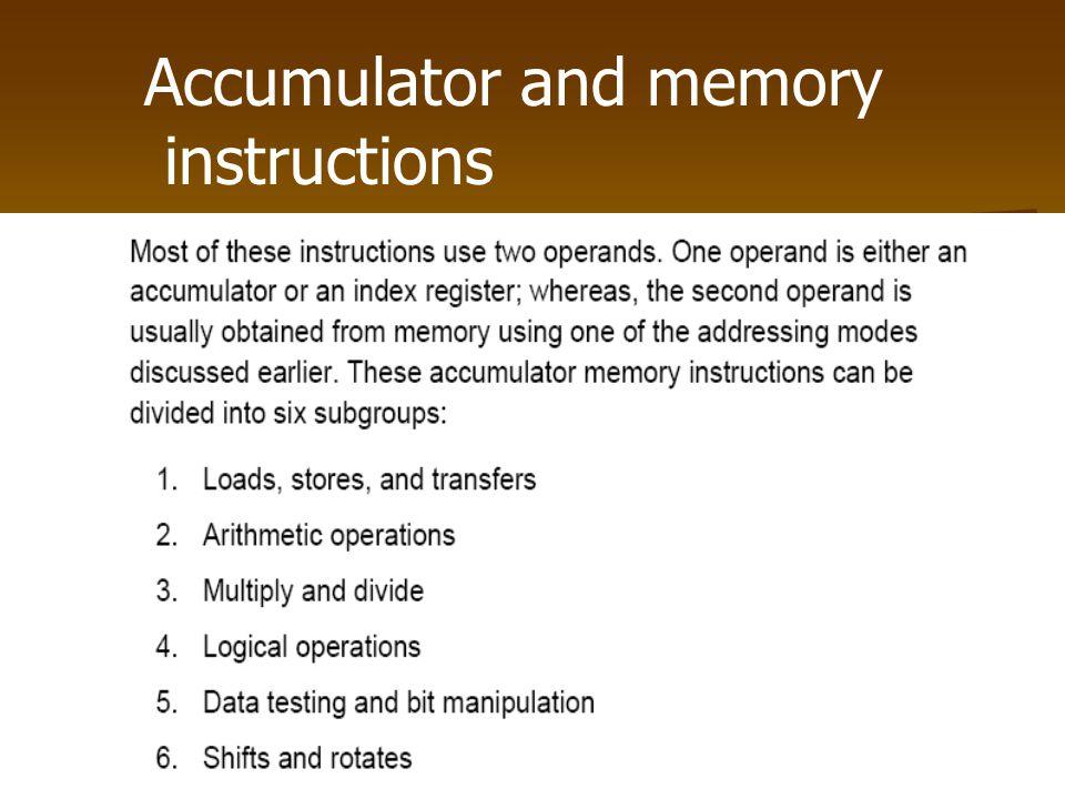 Accumulator and memory