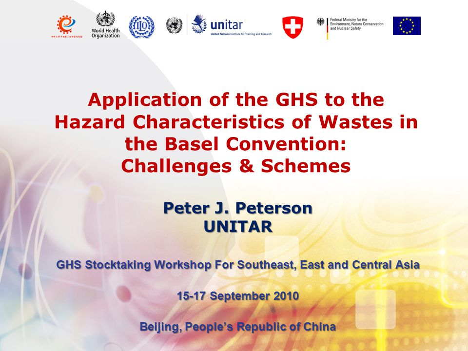 Application of the GHS to the Hazard Characteristics of Wastes in the Basel Convention: Challenges & Schemes