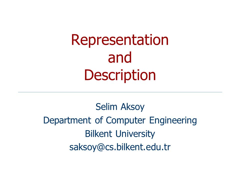 Representation and Description