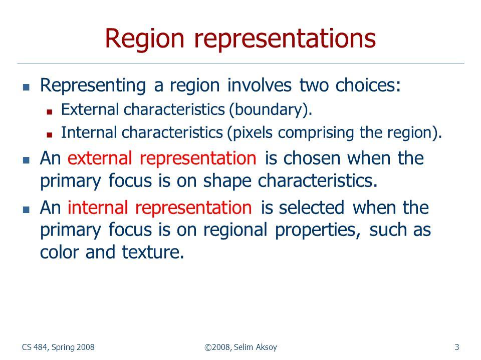 Region representations