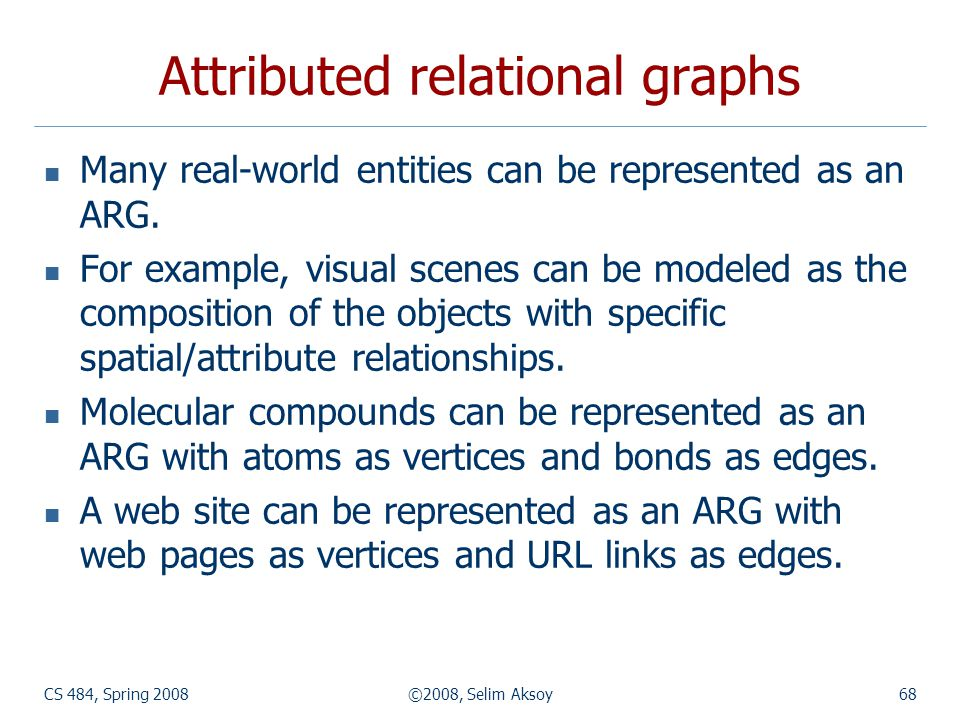 Attributed relational graphs