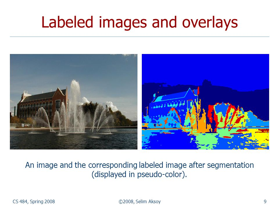 Labeled images and overlays