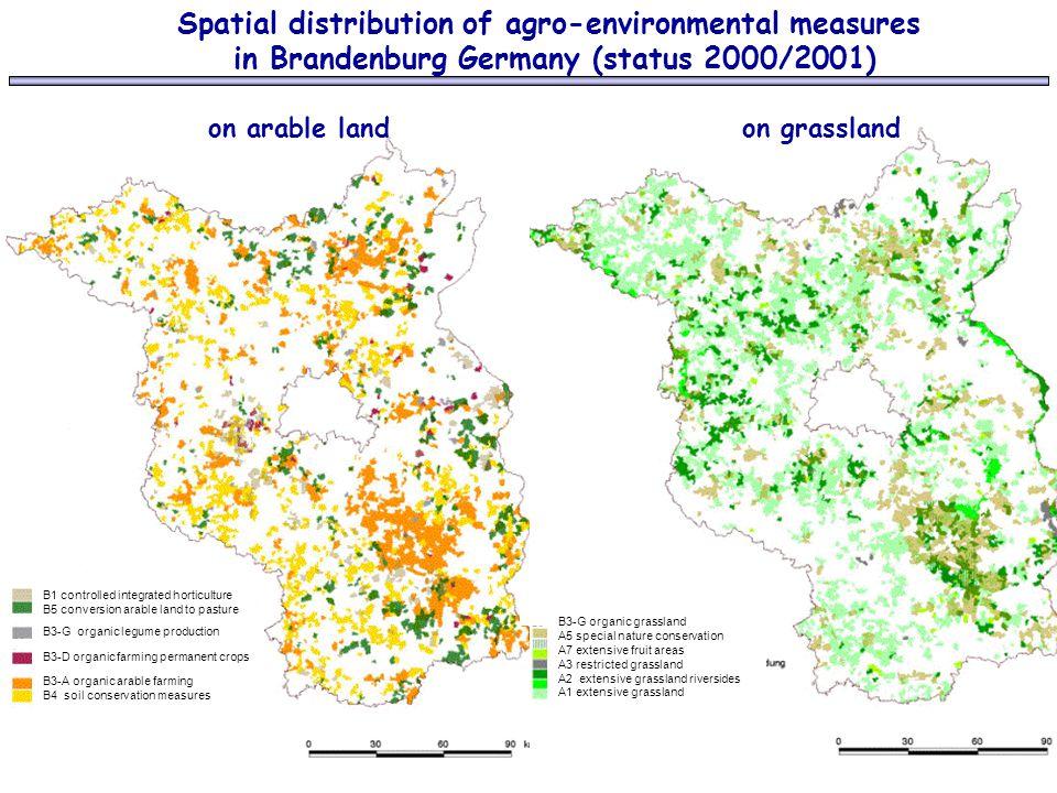 Spatial distribution of agro-environmental measures