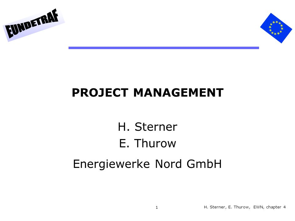 H. Sterner E. Thurow Energiewerke Nord GmbH