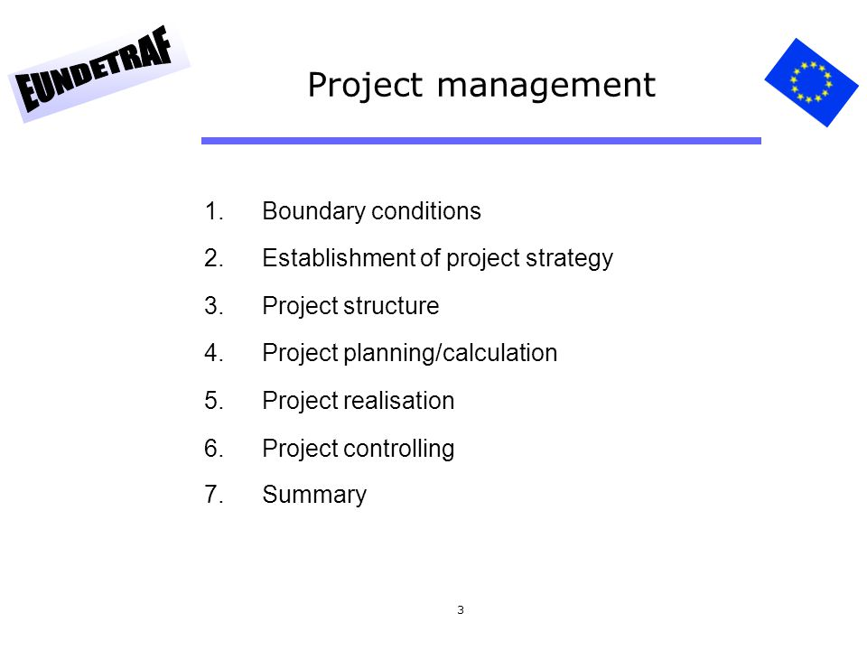 Project management Boundary conditions