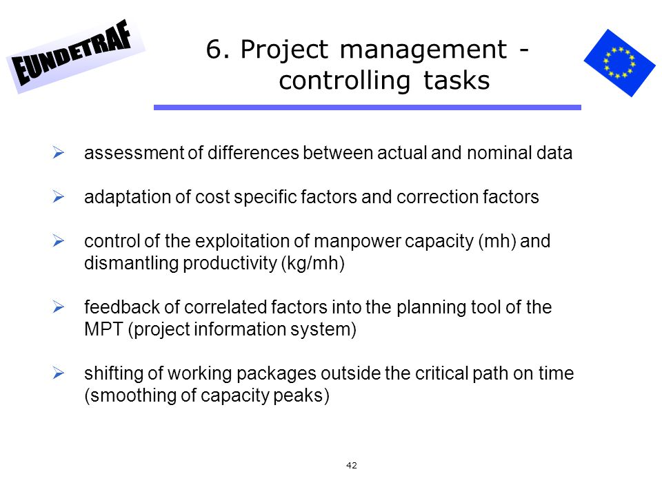 6. Project management - controlling tasks