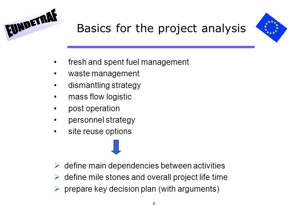 Basics for the project analysis