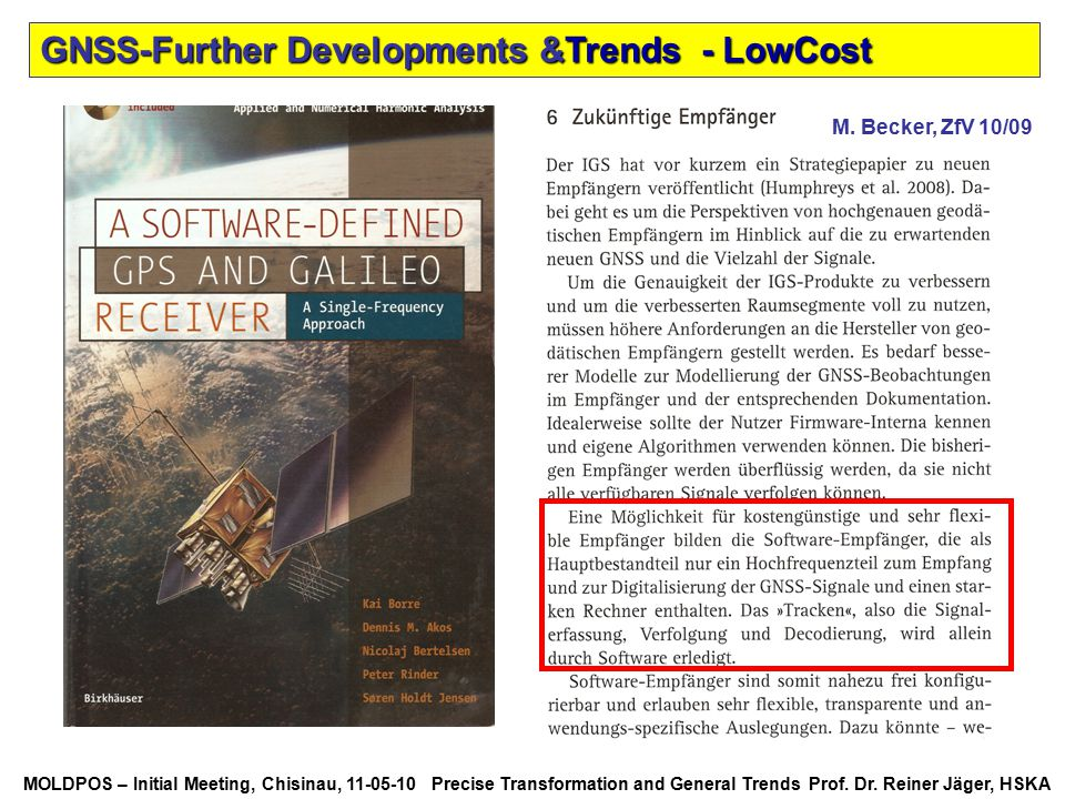 GNSS-Further Developments &Trends - LowCost