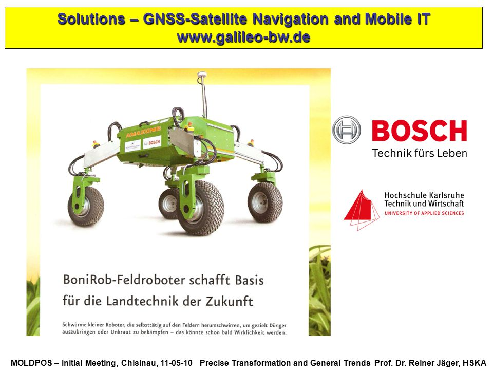 Solutions – GNSS-Satellite Navigation and Mobile IT