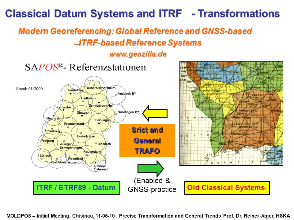 Classical Datum Systems and ITRF - Transformations