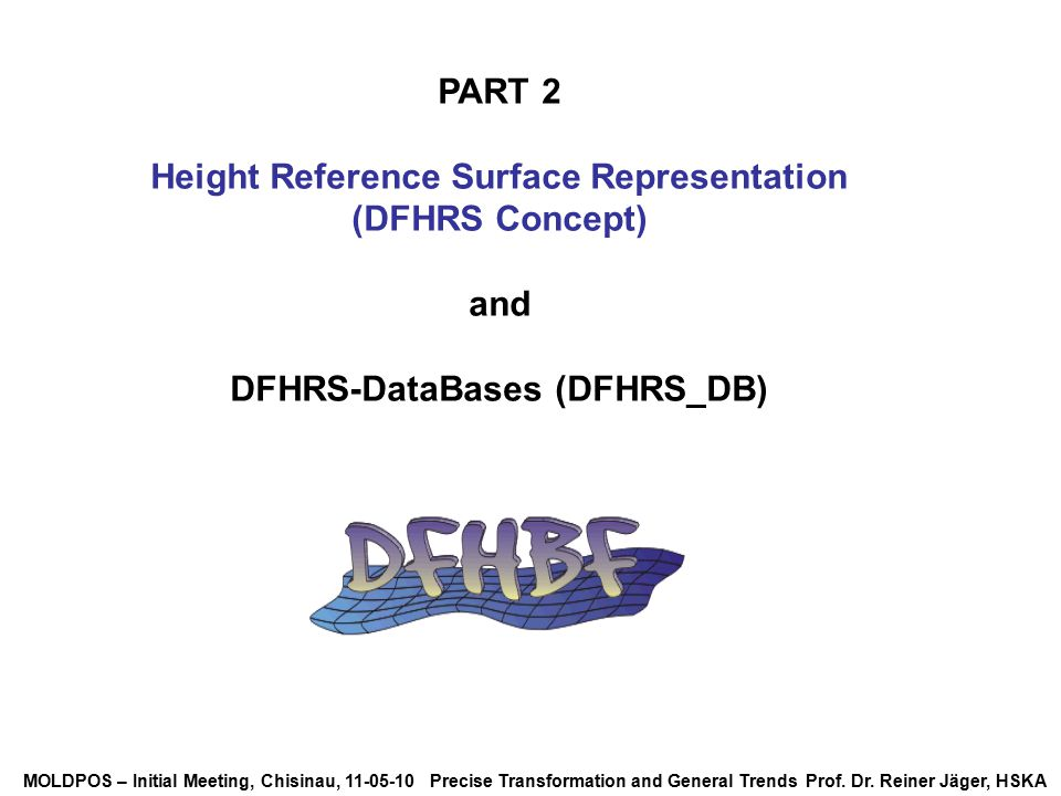 Height Reference Surface Representation DFHRS-DataBases (DFHRS_DB)