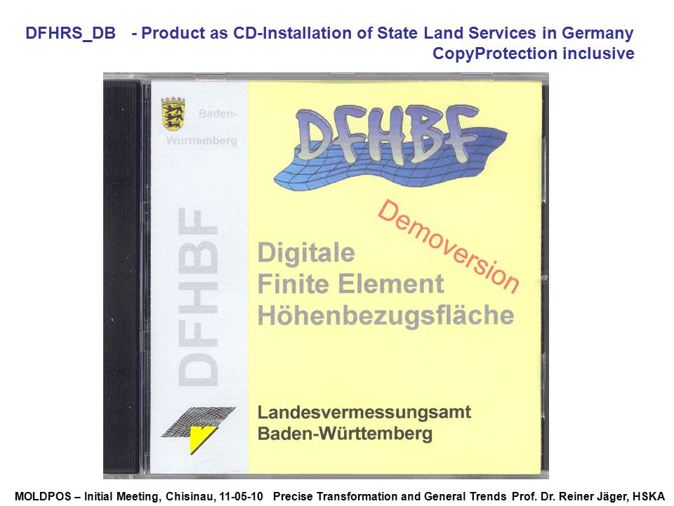 DFHRS_DB - Product as CD-Installation of State Land Services in Germany