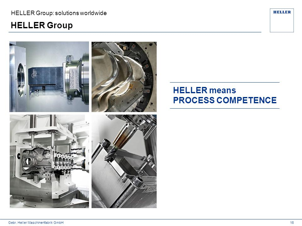 HELLER Group HELLER means PROCESS COMPETENCE