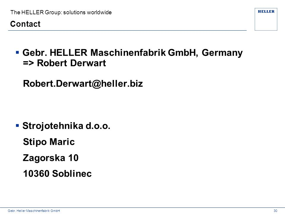 The HELLER Group: solutions worldwide