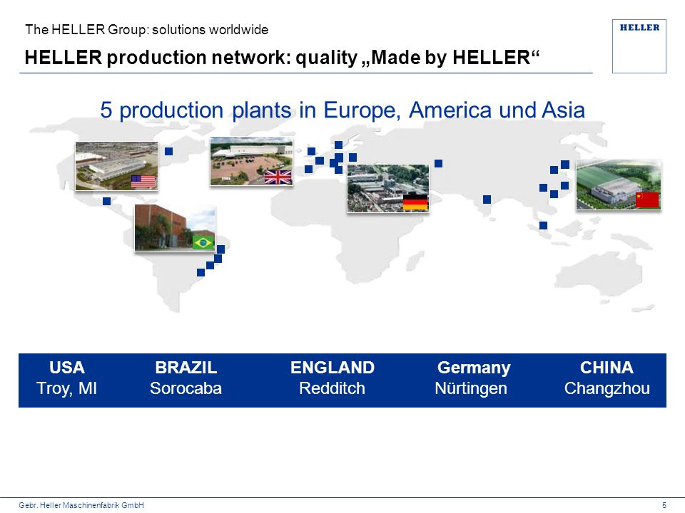 "HELLER production network: quality ""Made by HELLER"