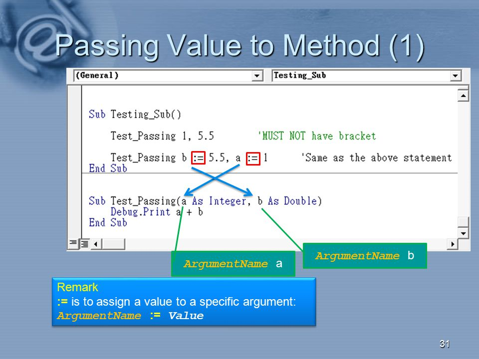 Passing Value to Method (1)