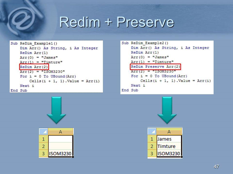 Redim + Preserve 017
