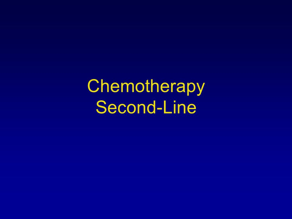 Chemotherapy Second-Line