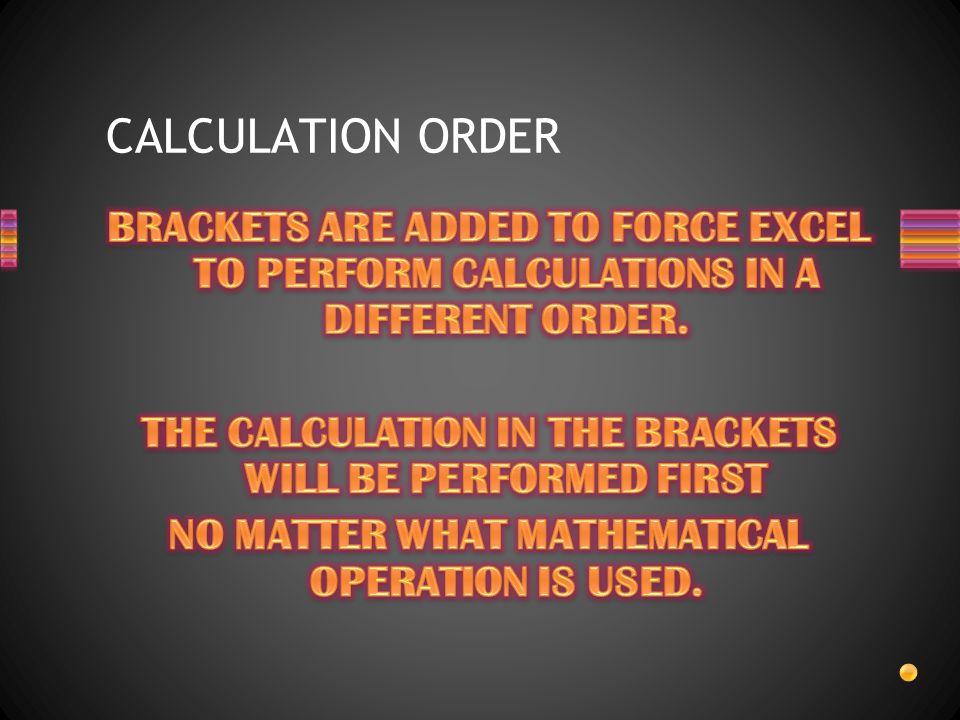 CALCULATION ORDER