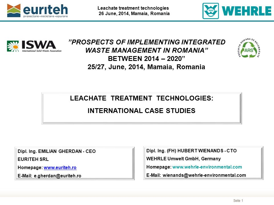 PROSPECTS OF IMPLEMENTING INTEGRATED WASTE MANAGEMENT IN ROMANIA
