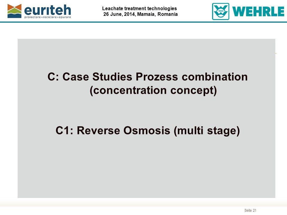 C: Case Studies Prozess combination (concentration concept)