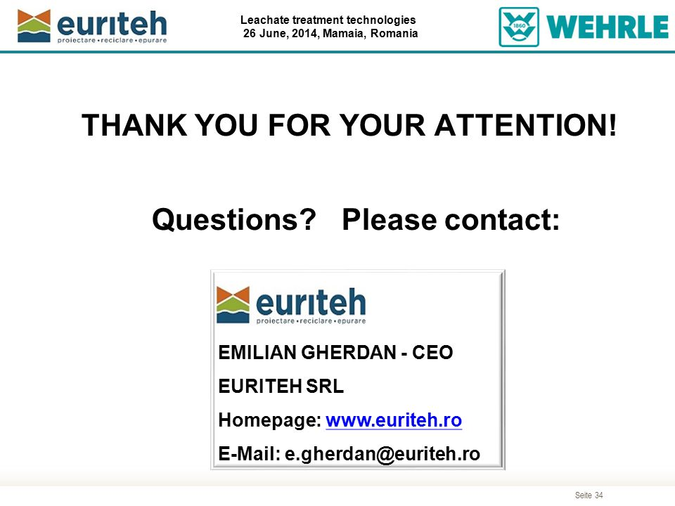 THANK YOU FOR YOUR ATTENTION! Questions Please contact: