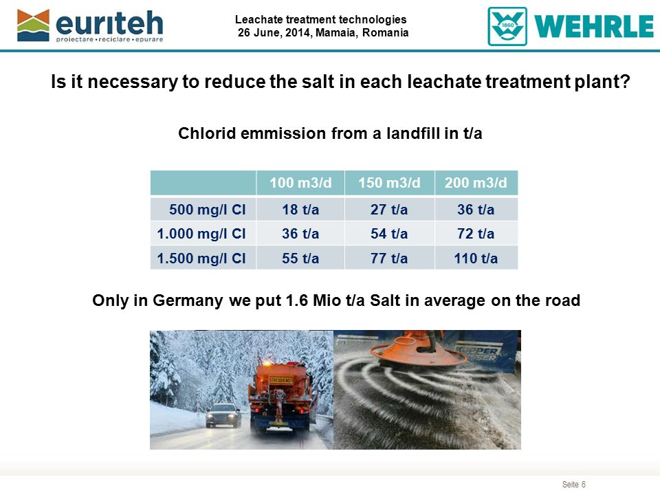 Is it necessary to reduce the salt in each leachate treatment plant