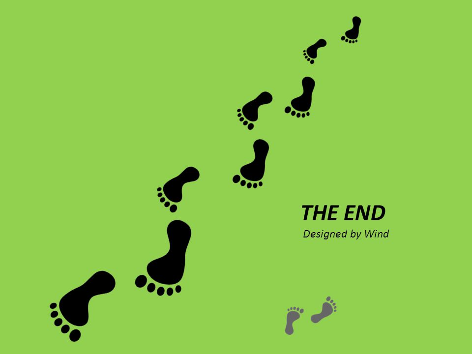 THE END Designed by Wind