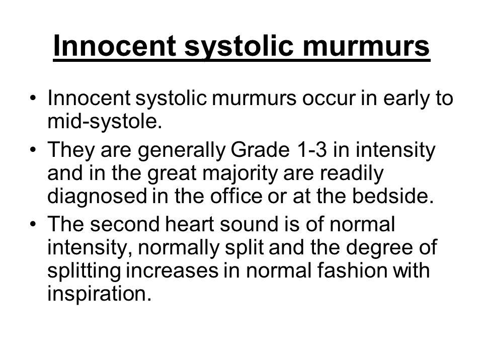 Innocent systolic murmurs