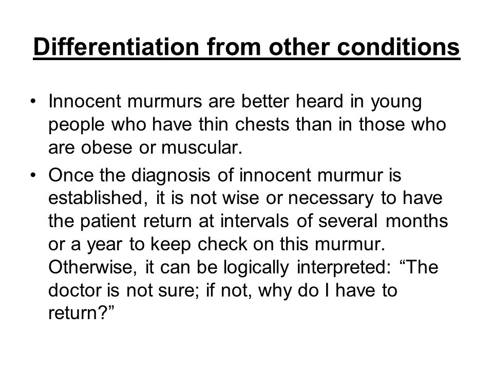 Differentiation from other conditions