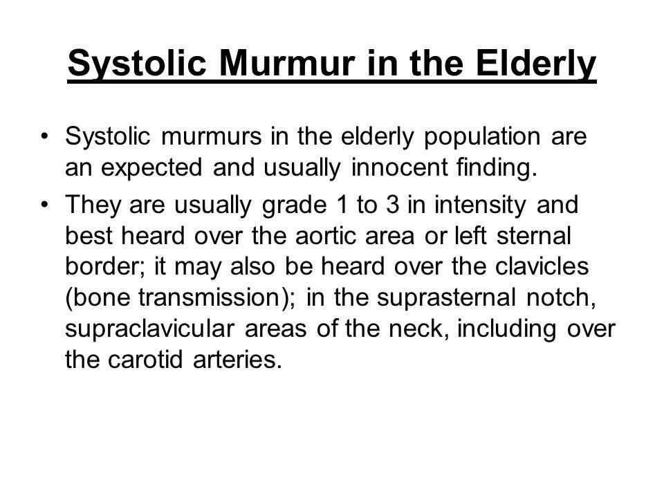 Systolic Murmur in the Elderly