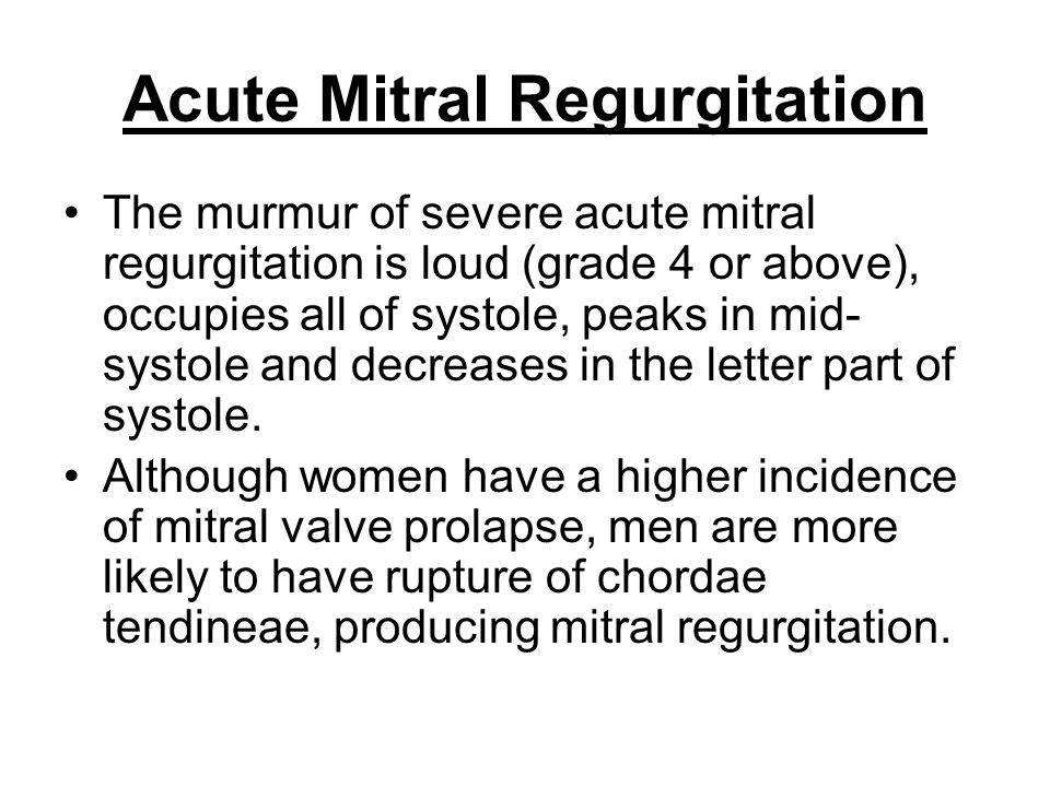 Acute Mitral Regurgitation