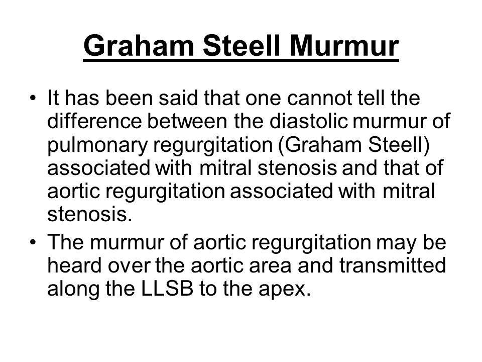 Graham Steell Murmur
