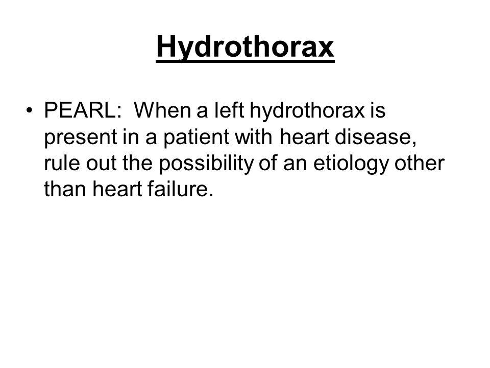 Hydrothorax