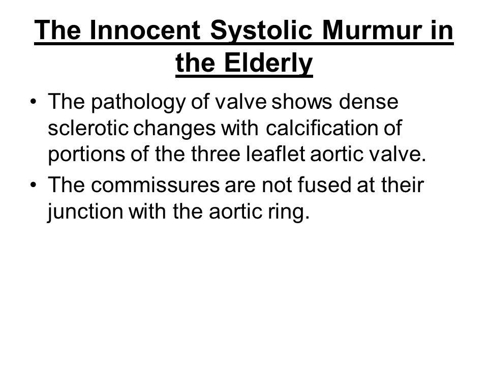 The Innocent Systolic Murmur in the Elderly