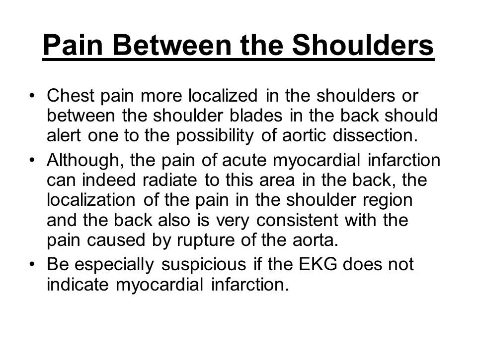 Pain Between the Shoulders