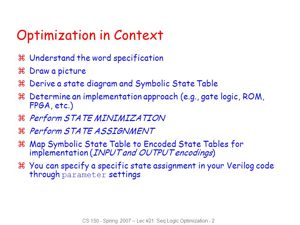 Optimization in Context