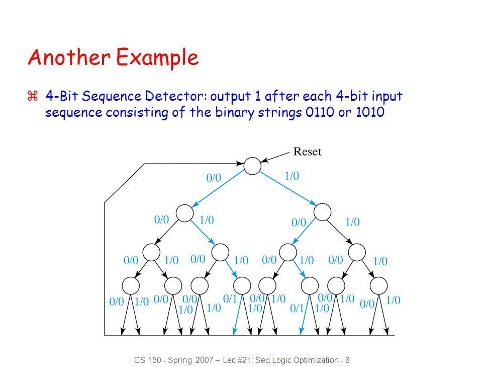 CS 150 - Spring 2007 – Lec #21: Seq Logic Optimization - 8