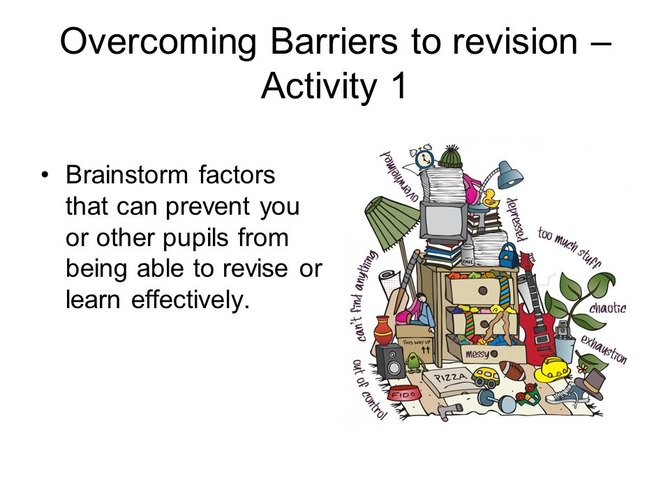 Overcoming Barriers to revision – Activity 1