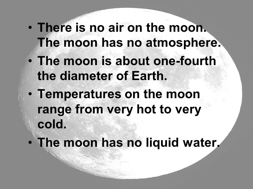 There is no air on the moon. The moon has no atmosphere.