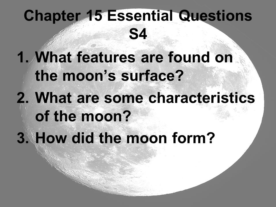 Chapter 15 Essential Questions S4
