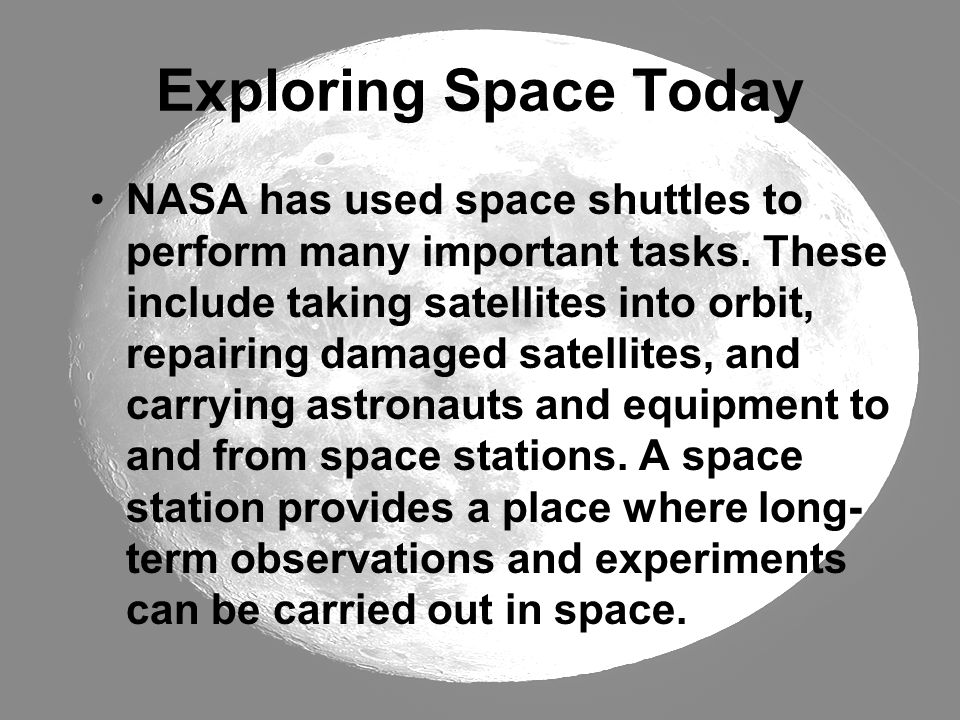 Exploring Space Today