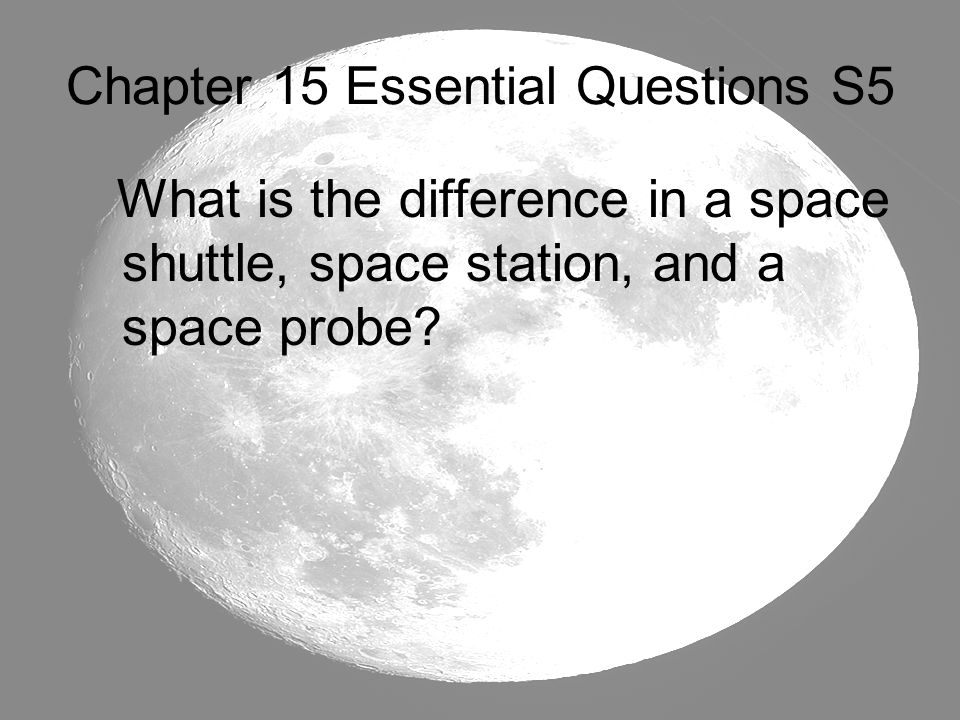 Chapter 15 Essential Questions S5