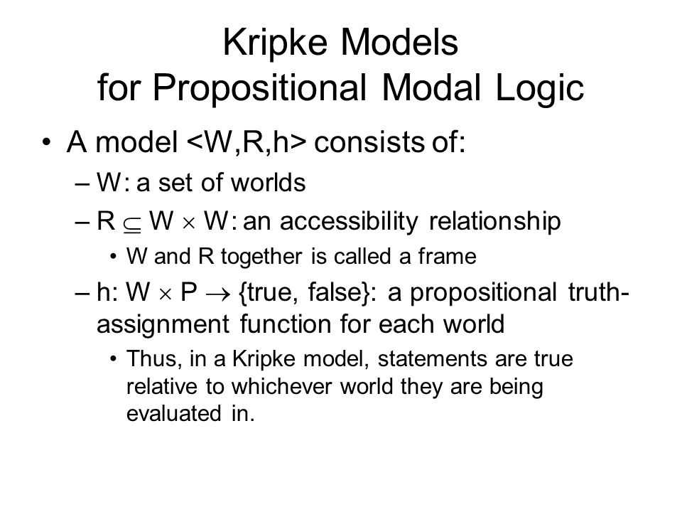 Kripke Models for Propositional Modal Logic