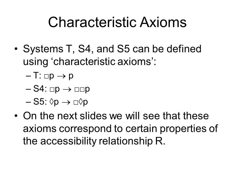 Characteristic Axioms