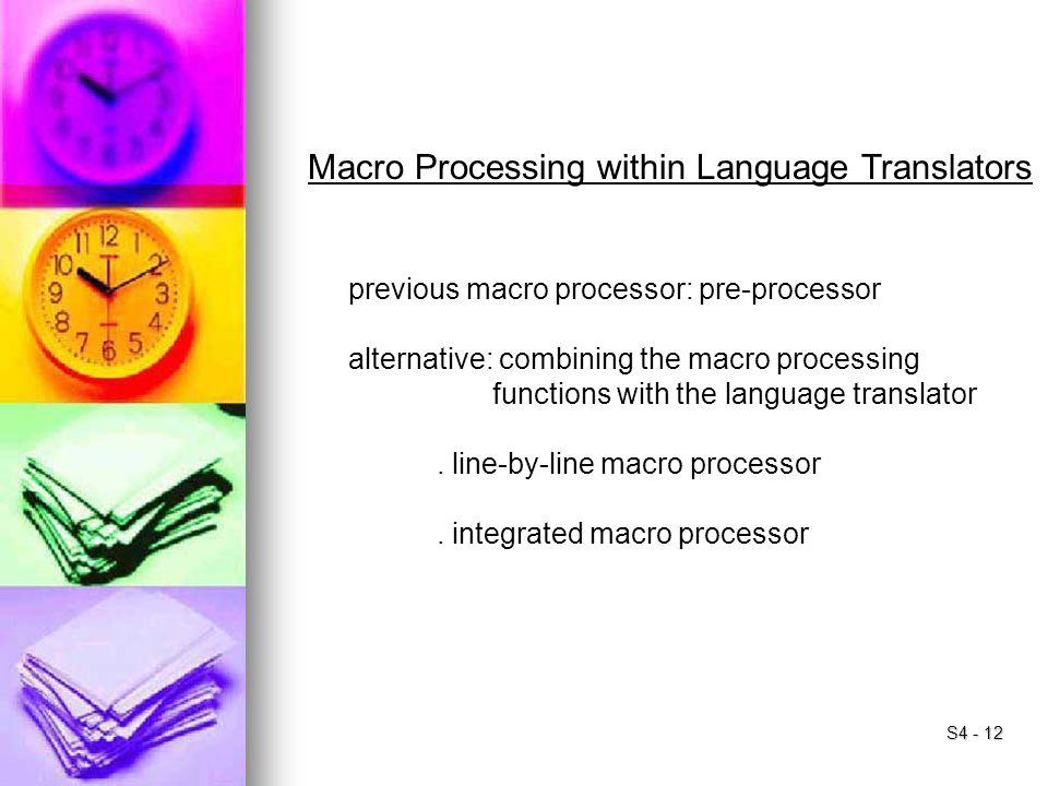 Macro Processing within Language Translators