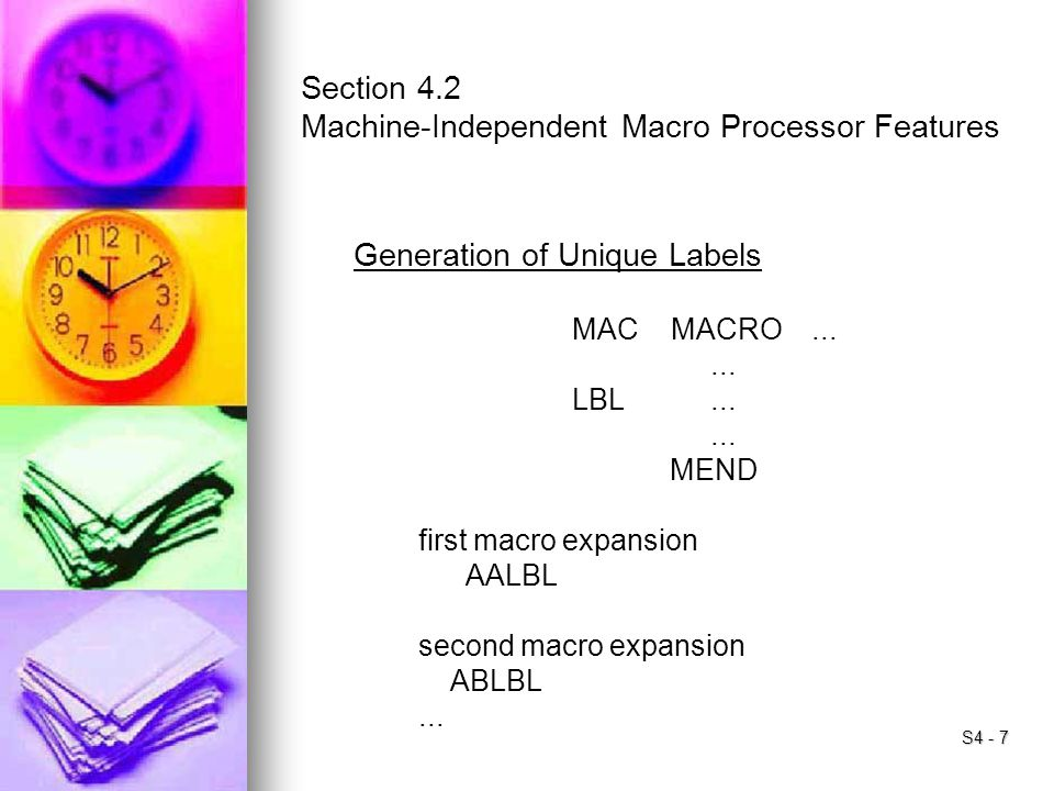 Machine-Independent Macro Processor Features